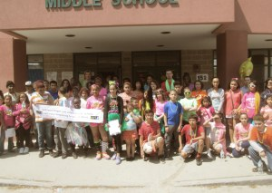 DelSesto Middle School raised funds for the Rhode Island Food Bank with a fun and colorful event.